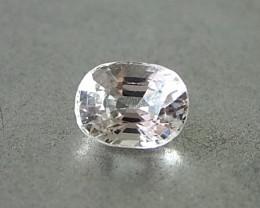 1.12ct clean unheated white sapphire