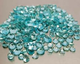 2Crt Apatite Neon Blue Color lot Natural Gemstones JI35