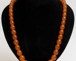 72 gr (360 ct) Natural melted Amber necklace, vintage