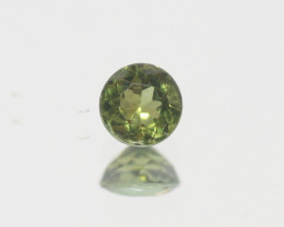 0.4Ct  Green Sapphire Faceted Round 4.5mm.(SKU301)