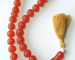41 gr (205 ct) Natura melted Amber rosary / mala