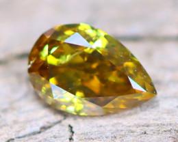 Greenish Yellow Diamond 0.23Ct Natural Fancy Diamond B2912