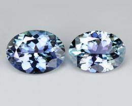 Tanzanite 2.19 Cts 2pcs Amazing rare Violet Blue Color Natural