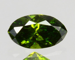 Splendid!! 0.09 Cts Natural Diamond Vivid Green Marquise Africa