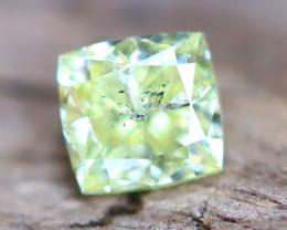 Greenish Yellow Diamond 0.34Ct Natural Fancy Diamond A2904