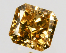 Mind Blowing!! 0.14 Cts Natural Untreated Diamond Fancy Yellow Octagon Cut