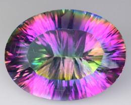 16.00 Cts Rainbow Mystic Quarts Top Color Gemstone MT8