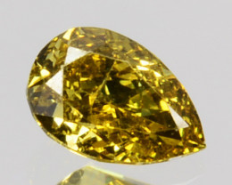 Fantastic!! 0.19 Cts Natural Untreated Diamond Fancy Yellow Pear Cut Africa