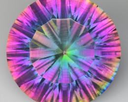 9.32 Cts Rainbow Mystic Quarts Top Color Gemstone MT29