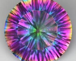 8.63 Cts Rainbow Mystic Quarts Top Color Gemstone MT36