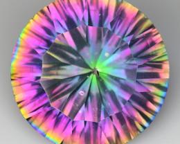 8.53 Cts Rainbow Mystic Quarts Top Color Gemstone MT37