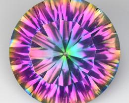 8.79 Cts Rainbow Mystic Quarts Top Color Gemstone MT40