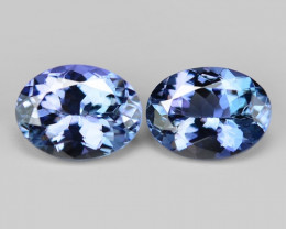 2.86 Cts 2pcs Amazing rare Violet Blue Color Natural Tanzanite Gemstone