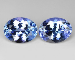 *No Reserve* 2.92 Cts 2pcs Violet Blue Color Natural Tanzanite Gemstone