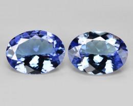 1.95 Cts 2pcs Amazing rare Violet Blue Color Natural Tanzanite Gemstone
