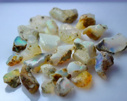 60.70 CT Natural - Unheated White Opal  Rough Lot