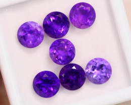13.88ct Natural Purple Amethyst Round Cut Lot E11