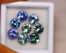 6.68Ct Natural Violet Blue Tanzanite Round Cut E08