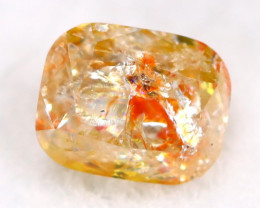Yellowish Orange Diamond 0.33Ct Untreated Genuine Fancy Diamond AT0090