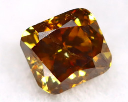 Brownish Orange Diamond 0.18Ct Untreated Genuine Fancy Diamond AT0101