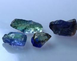 7.65 CT Unheated ~ Natural Bi Color Tanzanite Rough Lot
