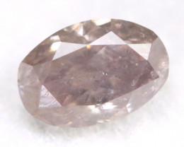 Pink Purple Diamond 0.24Ct Untreated Genuine Fancy Diamond AT0110