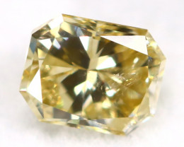Yellow Diamond 0.38Ct Untreated Genuine Fancy Diamond AT0112