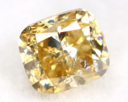 Yellow Diamond 0.21Ct Untreated Genuine Fancy Diamond AT0117