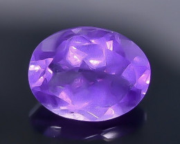 1.67 Crt Natural Amethyst Faceted Gemstone.( AB 82)