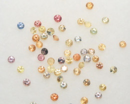 1.53 Ct  Multicolor Sapphire Lot Faceted Round 1.7mm.-(SKU322)