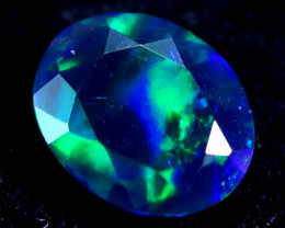 0.87cts Natural Ethiopian Faceted Smoked Opal / MA222