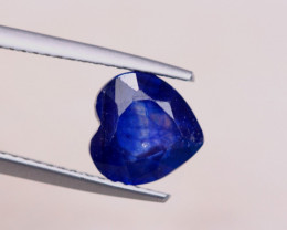 3.50Ct Ceylon Blue Sapphire Heart Cut Lot B2096