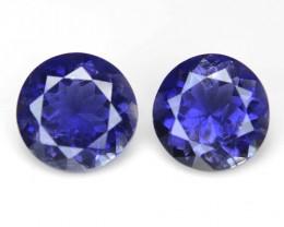 1.92 Cts 2 pcs Amazing Rare Purple Color Natural Iolite Gemstone