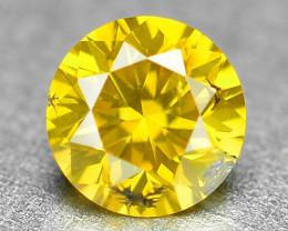 0.13 Cts Sparkling Rare Fancy Vivid Yellow Color Natural Loose Diamond