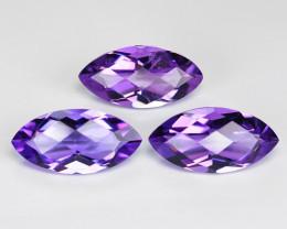 5.65 Cts 3 pcsAmazing Rare Natural Purple  Amethyst Loose Gemstone