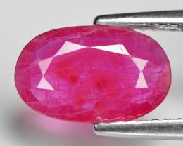 1.92 Cts Pinkish Red Natural Ruby BURMA  Loose Gemstone