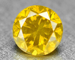 0.09 Cts Sparkling Rare Fancy Vivid Yellow Color Natural Loose Diamond
