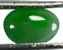 ~UNTREATED~ 1.35 Cts Natural Green Jade Cabochon Burmese