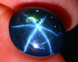 Star Sapphire 13.84Ct Natural 6 Rays Blue Star Sapphire D0315/A52