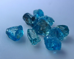 26.40 CT Natural - Unheated  Blue Zircon  Rough Lot