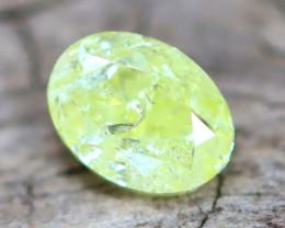 Greenish Yellow Diamond  0.30Ct Untreated Genuine Fancy Diamond B3012