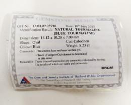 8.23 Cts GIT Certified Copper Bearing Blue Natural Paraiba Tourmaline