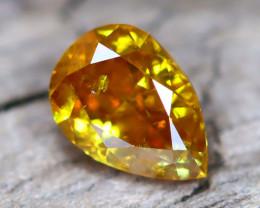 Yellowish Orange Diamond 0.33Ct Untreated Genuine Fancy Diamond A3014
