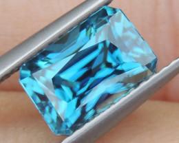 3.66cts, Blue Zircon,