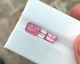 2.85 Ct Natural Pink Transparent Tourmaline Gems Parcels