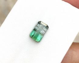 2 Ct Natural Bi Color Transparent Tourmaline Ring Size Gemstone