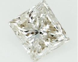 0.72 CTS , Princess Brilliant Cut DIamond  , Square Diamond
