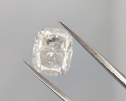 1.01 CT , White Natural Diamond , Cushion Cut Diamond , Salt and Pepper Dia