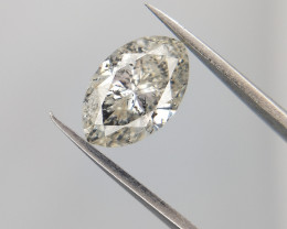 0.74 cts , Extremely Rare Marquise Cut Diamond , Salt and pepper diamond