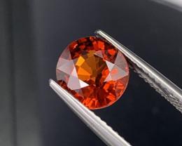 3.07 Carats Natural Spessartite Garnet Orangish Red Top Quality